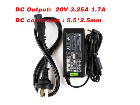 8889 100~240V /50-60 HZ 1.7A 20V 3.25A adapter