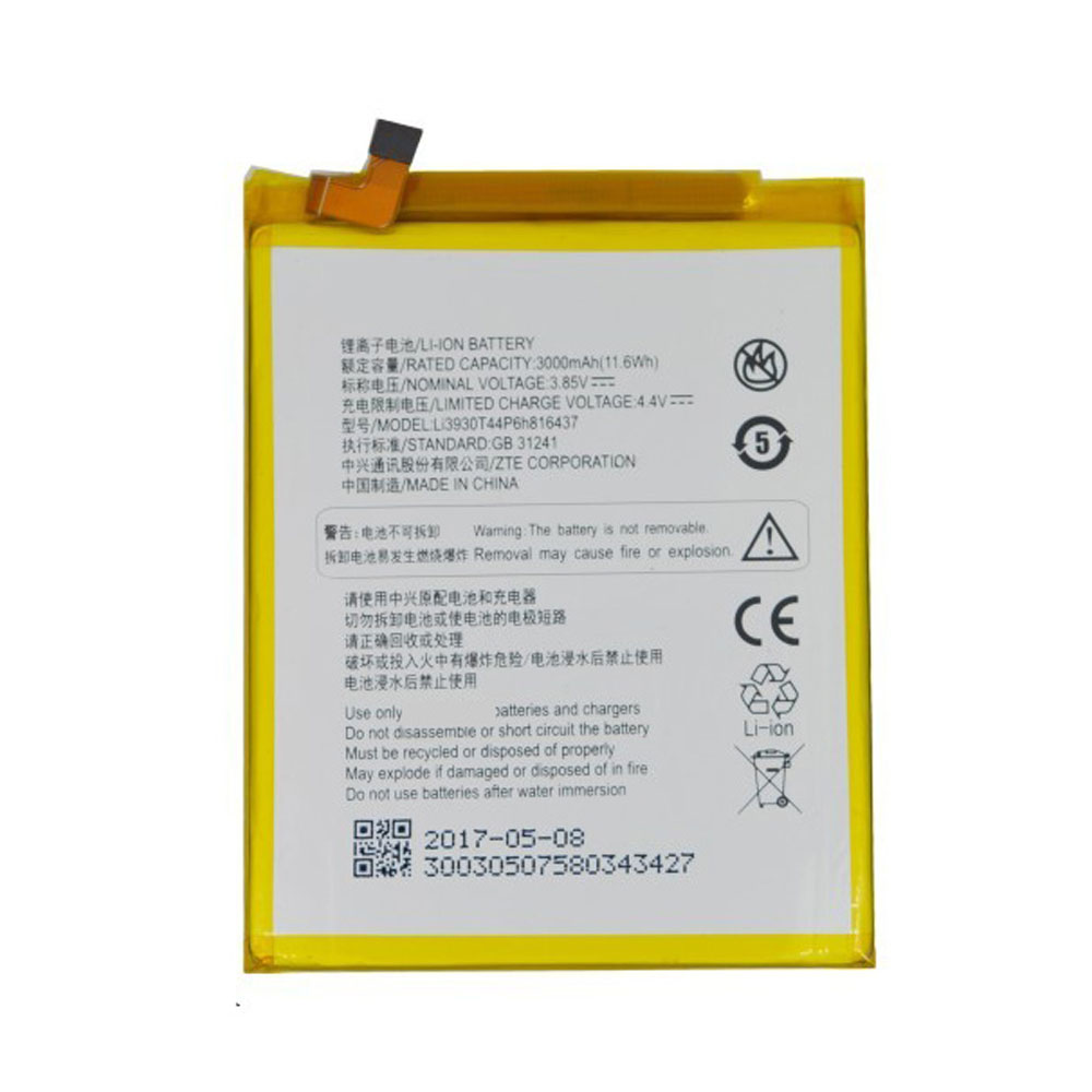 Li3930T44P6h816437 Batterie ordinateur portable