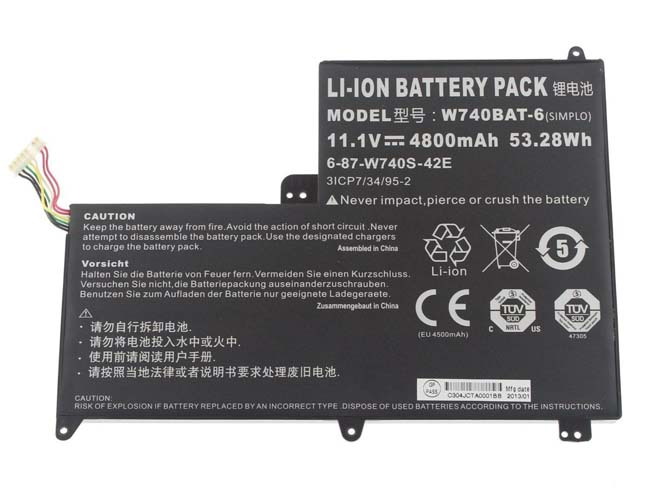 W740BAT-6 pc batterie
